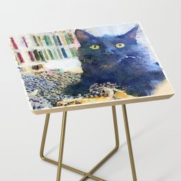 Alfred Watercolor Side Table
