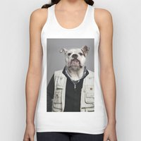 english bulldog Tank Tops featuring English Bulldog Worker by Life on White Creative