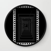 noir Wall Clocks featuring Noir by My own little world