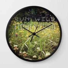 Run Wild, Flower Child Wall Clock