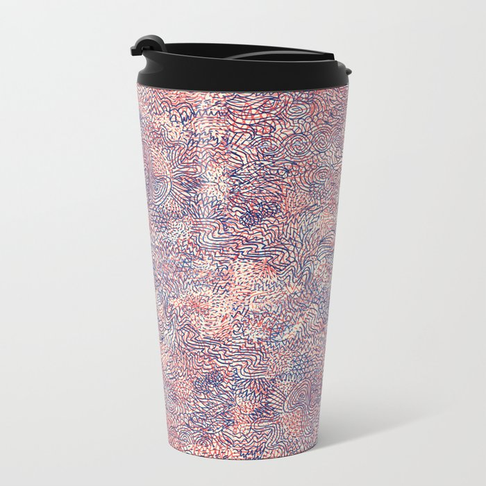 Space Is Only Noise Metal Travel Mug