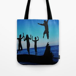 Brownie's beach silhouette Tote Bag