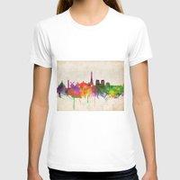 skyline T-shirts featuring Paris skyline  by Bekim ART