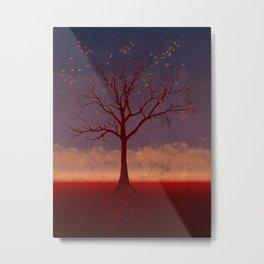 Geo Tree Metal Print