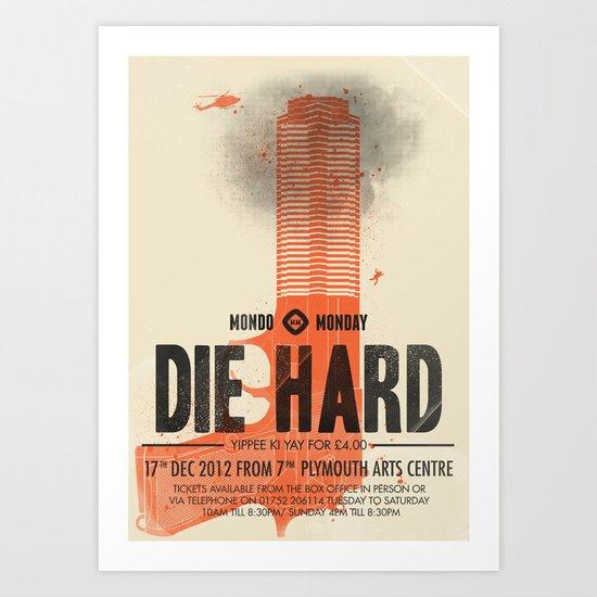 Die Hard (Full poster variant) Art Print