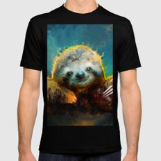 sloth Black 2X-LARGE Mens Fitted Tee