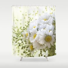 Bouquet of daisies in LOVE - Flower Flowers Daisy Shower Curtain