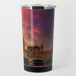 Houses of Parliament - London Travel Mug