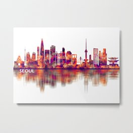 Seoul South Korea Skyline Metal Print