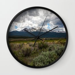 Journey to Leadville - View of Mount Massive on Summer Day in Colorado Wall Clock