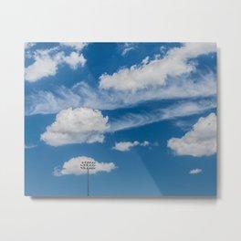 Ballpark Sky Metal Print