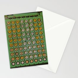 Vintage Mechanical Number Adding Machine Stationery Cards