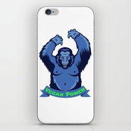Gorilla Monkey Vegan Power Plants Vegetarian Gift iPhone Skin