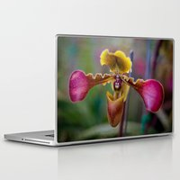 thailand Laptop & iPad Skins featuring Orchid Thailand by Adrian Evans