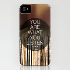 You Are What You Listen To iPhone (4, 4s) Slim Case