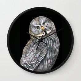 Great Gray Owl Wall Clock