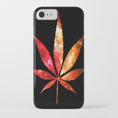 Weed : High Times orange red pink  Galaxy iPhone 7 Slim Case