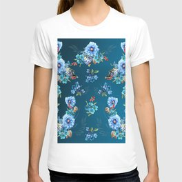 Cornflower Blues in Watercolor T-shirt