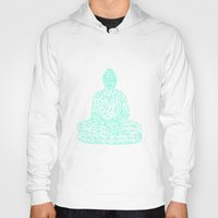 hologram Hoodies featuring Triangular Traced Buddha by Makar Deku