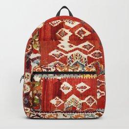 Hotamis  Antique Turkish Karapinar  Kilim Print Backpack