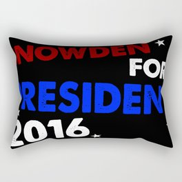 Snowden For President 2016 Rectangular Pillow