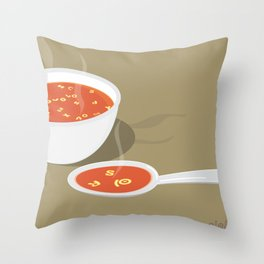 so[jo]pa de letras Throw Pillow