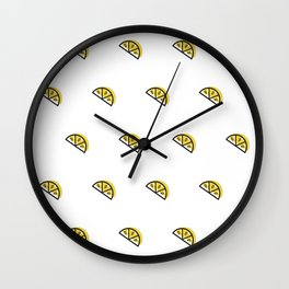 Lemon Wedge Wall Clock