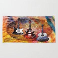 Guitar Love Trio Beach Towel