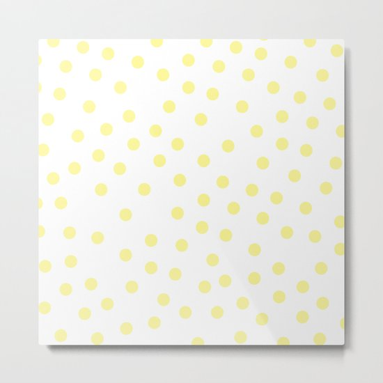 Simply Dots in Pastel Yellow Metal Print