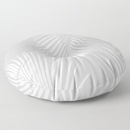 Gray Tropical Pattern Floor Pillow