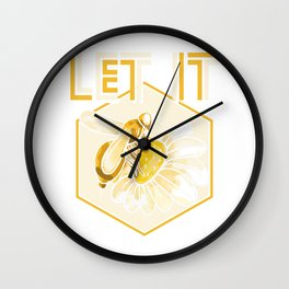 Let it bee - beekeeper beekeeping honeybee Wall Clock