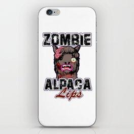 Zombie Alpaca Lips Halloween Pun Llama Alpacalypse Light iPhone Skin