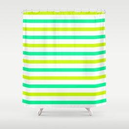 Green stripes Shower Curtain
