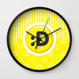 Yellow Writer's Mood Wall Clock