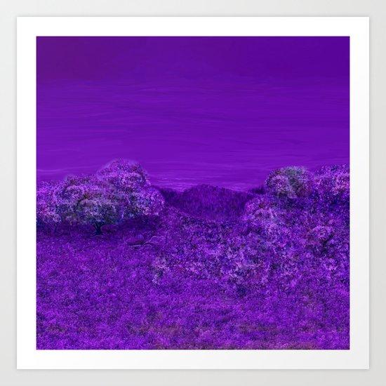 A Perpetual Lavender Twilight Art Print