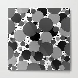 Grey Polka Dots Metal Print