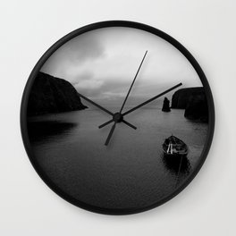 Over the Edge of the World - B&W Wall Clock