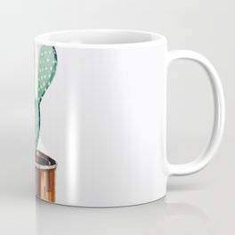 Potted Cactus Bronze Copper Coffee Mug