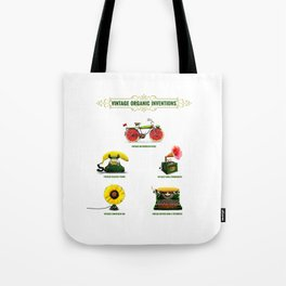 ORGANIC INVENTIONS SERIES: Vintage Organic Inventions Tote Bag