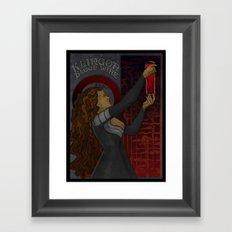 Klingon Blood Wine Framed Art Print