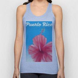 puerto rico Flor de maga Travel poster Unisex Tank Top