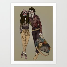 Floral Couple Art Print