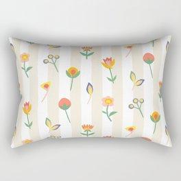Paper Cut Flowers Rectangular Pillow