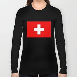 Flag of Switzerland 2x3 scale Long Sleeve T-shirt