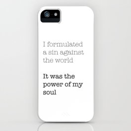 My Sin Against the World iPhone Case