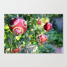 Christmas Bulbs Canvas Print