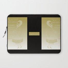 Tangent Metallic Gold Laptop Sleeve