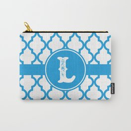 Blue Monogram: Letter L Carry-All Pouch