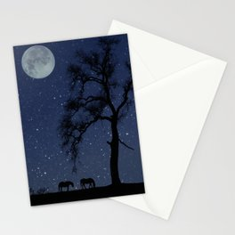 Starry Night, Horse and Moon Stationery Cards