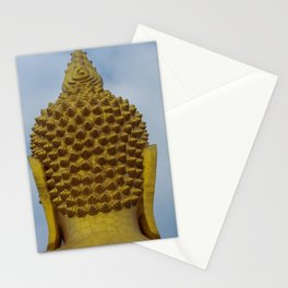Big Golden Buddha on the Blue Sky Stationery Cards